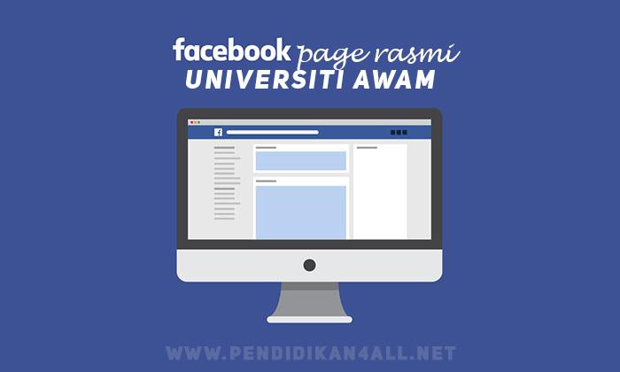 Senarai Facebook Page Rasmi Bagi Semua Universiti Awam Di Malaysia