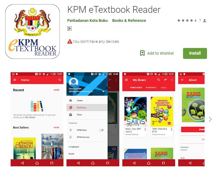 Dapatkan Buku Teks Digital Di Aplikasi KPM eTextbook Dari Kementerian Pendidikan Malaysia