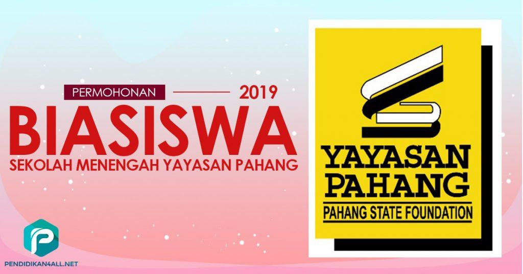 Permohonan Biasiswa Sekolah Menengah Yayasan Pahang (BSM YP) 2019