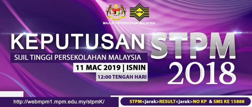 keputusan stpm 2018 pada 11 mac 2019