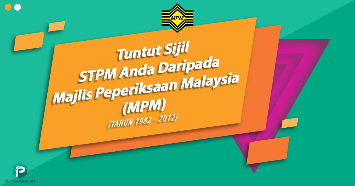 tuntut sijil stpm