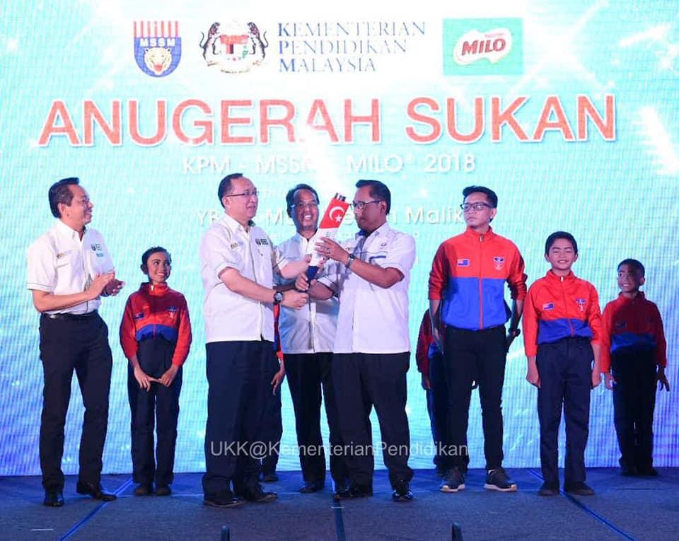 Anugerah Sukan KPM-MSSM-MILO 2018