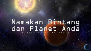 namakan bintang dan planet