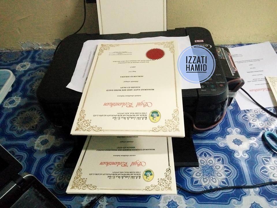 cara print sijil