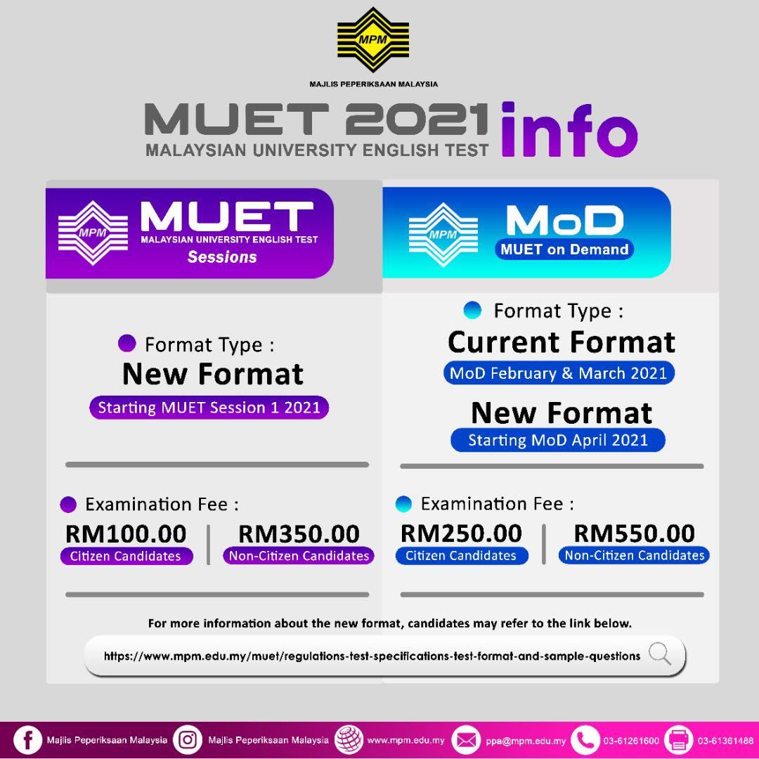 info format baru muet