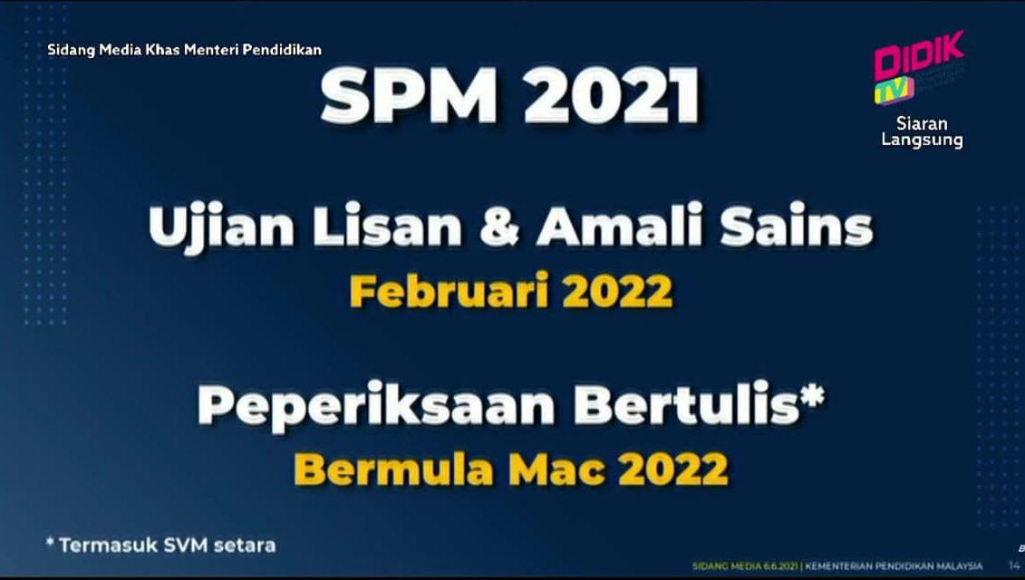 tarikh spm 2021